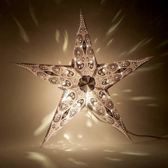 kerstster kerststerren papieren lamp black pashmina 2