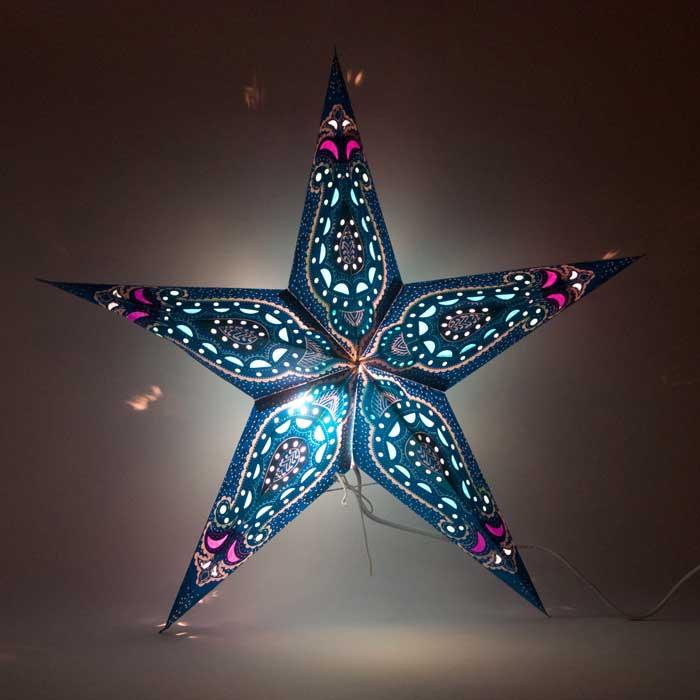 kerstster kerststerren papieren lamp bombay 2