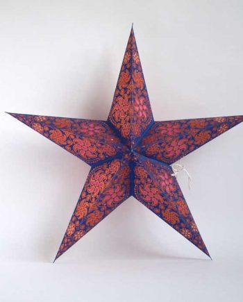 kerstster-kerststerren-papieren-lamp-copper-zari-divali
