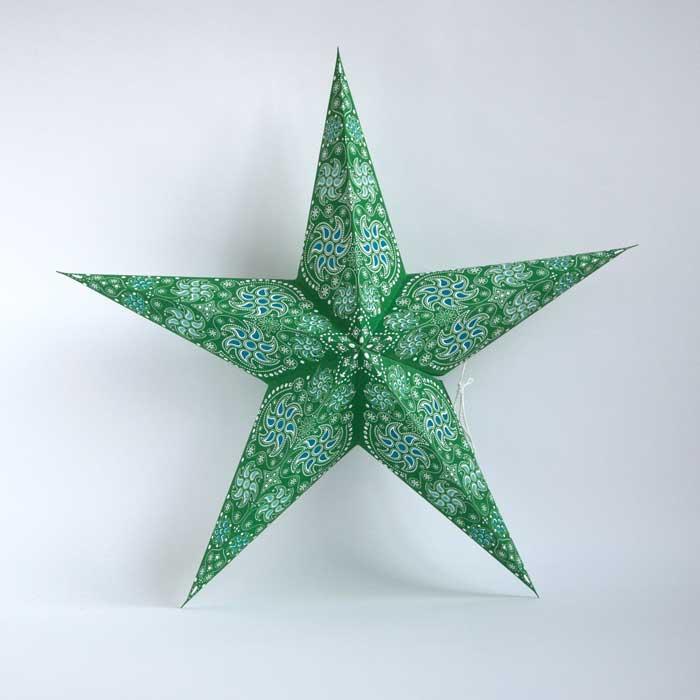 kerstster-kerststerren-papieren-lamp-green-divali