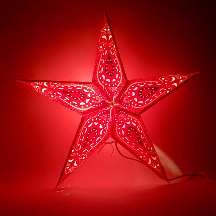 kerstster kerststerren papieren lamp himalaya 2