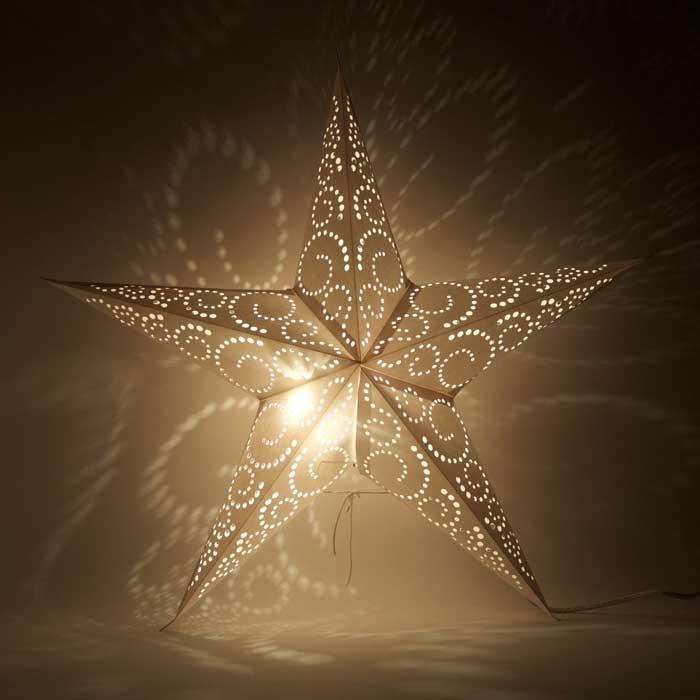 kerstster kerststerren papieren lamp madras 2