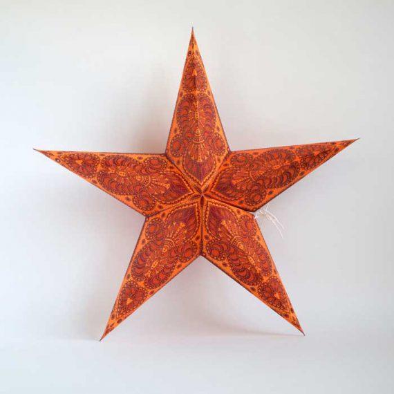 kerstster-kerststerren-papieren-lamp-orange-shiva