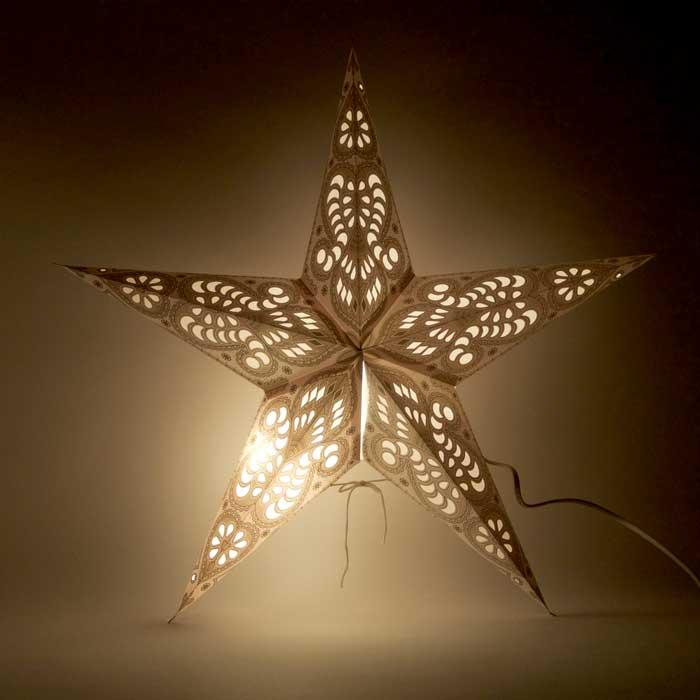 kerstster kerststerren papieren lamp white shiva 2