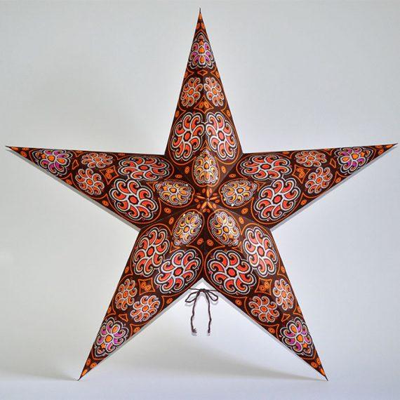 papieren-kerstster-Cylon-Orange-Brown