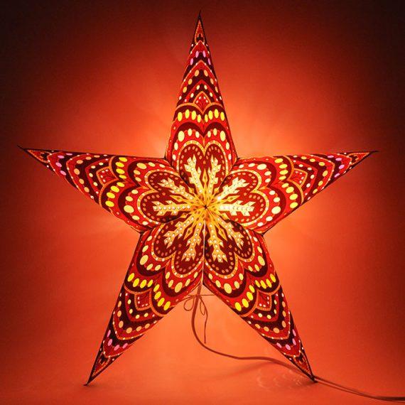 papieren-kerstster-Himalaya-Brown-Orange-dark