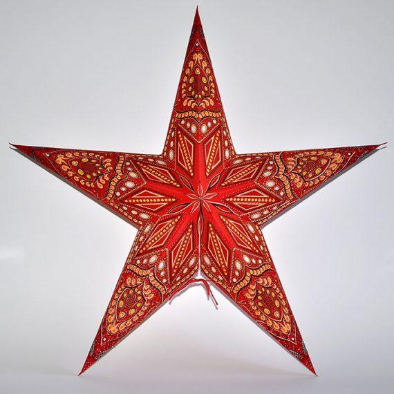 papieren-kerstster-Jaipur-Red