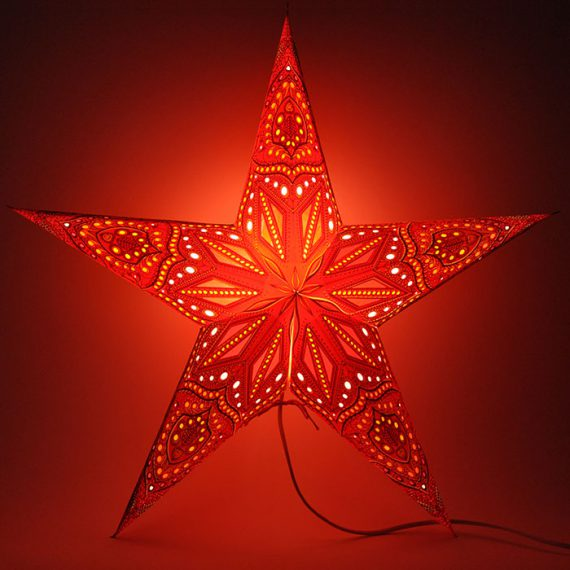 papieren-kerstster-Jaipur-Red-dark