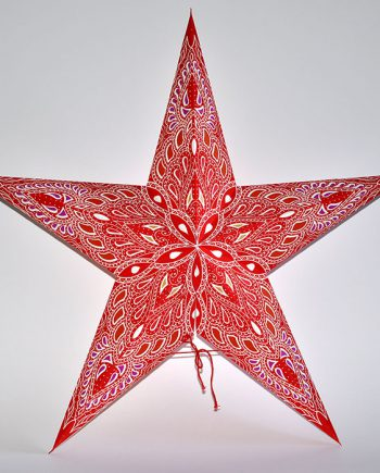 papieren-kerstster-Kathmandu-Red