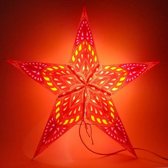 papieren-kerstster-Kathmandu-Red-dark