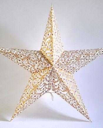 papieren-kerstster-Silvasa-white-Gold